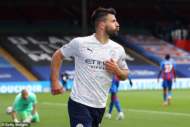 Sergio Aguero was delighted with his goal as Manchester City overcame Crystal Palace