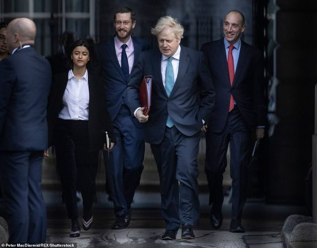 Boris Johnson's chief of staff Dan Rosenfeld, pictured right, is thought to be considering leaving his job, while Munira Mirza, left, who heads the No 10 Policy Unit, has also been under question