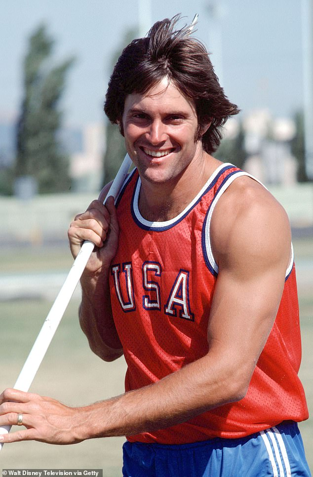 Then known as Bruce Jenner, she  is seen competing in the 1976 Olympics before he transitioned at the age of 65