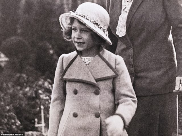 The Queen, then Princess Elizabeth for England, pictured around the age of six.The first of Charlotte's scene-stealing cameos came aged just 13 months on the Buckingham Palace balcony during the Queen's 90th birthday celebrations