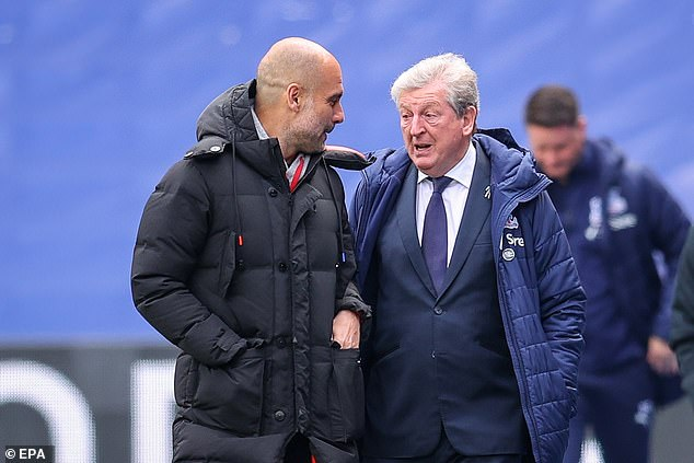 Roy Hodgson (right) said Manchester City are one of the best teams he has ever come across