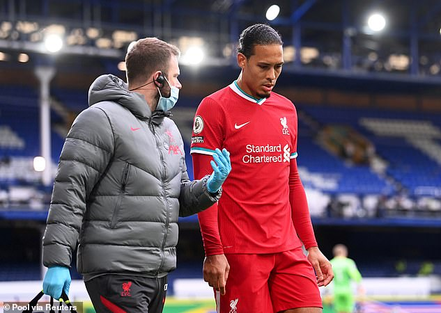 The Reds were dealt a huge blow when van Dijk injured his ACL against Everton in October