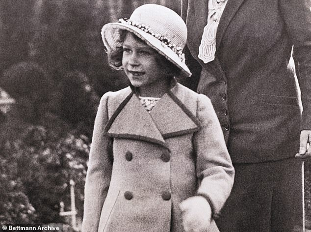 The Queen, then Princess Elizabeth, pictured around the age of six. Although Princess Charlotte's parents have always fiercely protected their children's privacy, restricting the number of photocalls they take part in each year for instance, they have been more relaxed of late