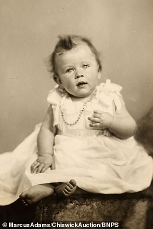 The Queen at eight-months-old
