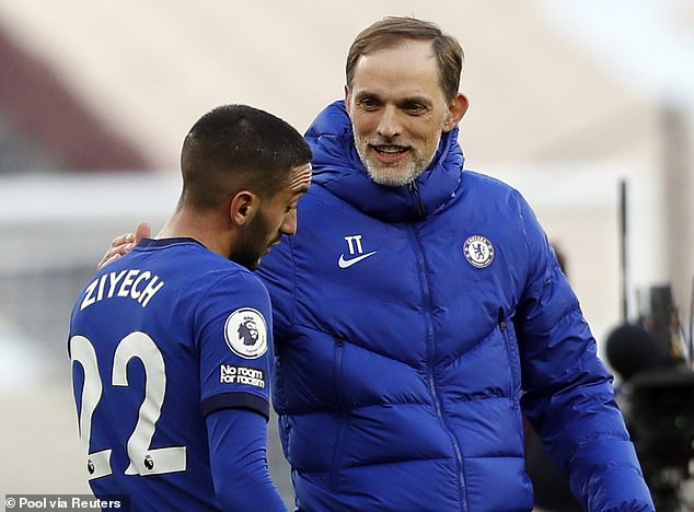 Frank Leboeuf says Chelsea manager Thomas Tuchel is playing Hakim Ziyech out of position
