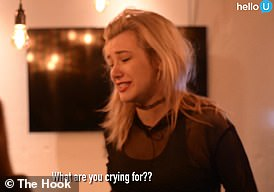 Clarke asks: 'What are you crying for?', while Jahannah is left visibly upset by the prank