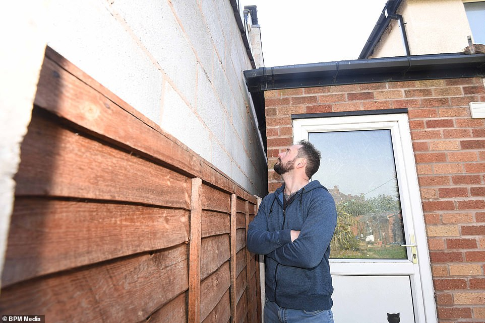 Mr Smith told Birmingham Live that he had raised concerns with the neighbour, who said they would 'sort it out,' but the problem was never resolved by the builders
