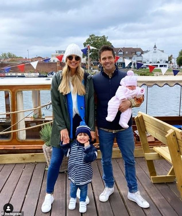 Room for three more?The outing comes after Vogue revealed on Sunday that she sometimes wants five children with her husband Spencer Matthews