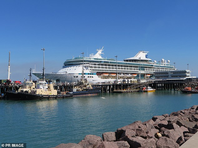 Pictured: The Royal Caribbean ship Legend of the Seas docked at Port of Darwin