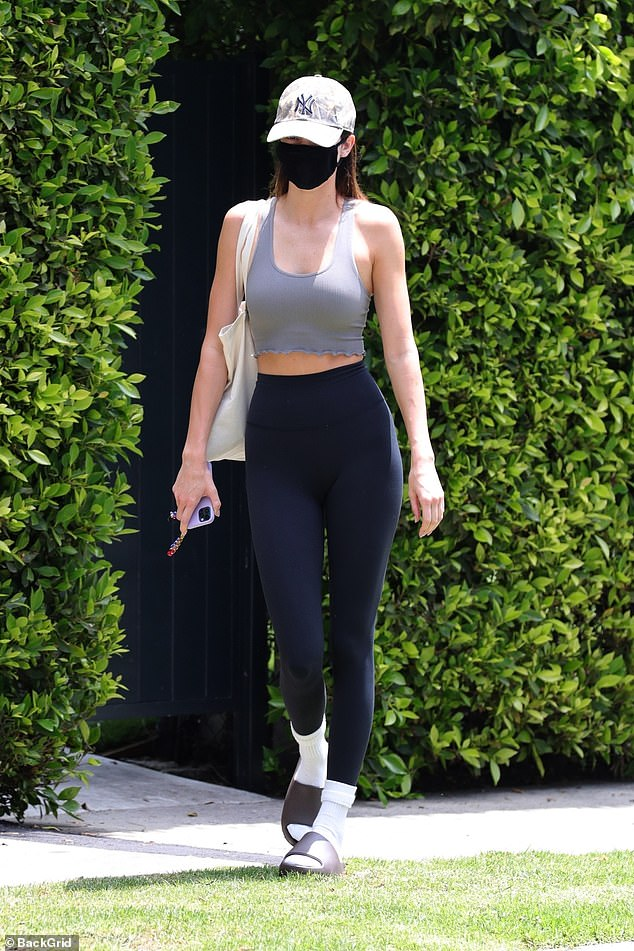 Toned and terrific!Kendall Jenner showcased her gym-honed figure as she headed to a Pilates class in West Hollywood on Saturday