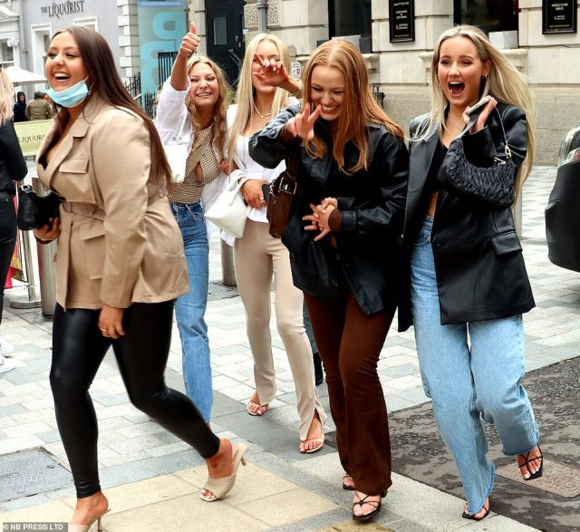Friends prepare for a long-awaited three-day weekend as they hit the streets of Leeds and celebrate the relaxation of Covid measures
