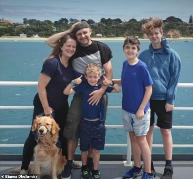 Bianca Dhollander contracted Ross River fever in January while holidaying with her family (pictured) in Queenscliff, on the Bellarine Peninsula