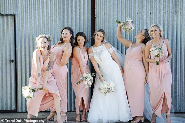 Instead, Kerstyn (pictured at a wedding) likes to say she and the bride are 'new friends' who have 'become closer and closer throughout the wedding planning process'