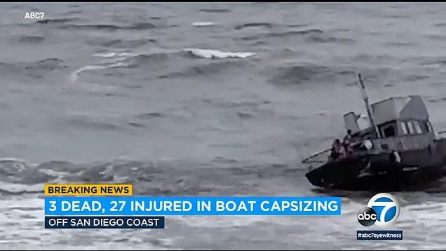 At least 3 dead migrant boat capsizes off Californian coast