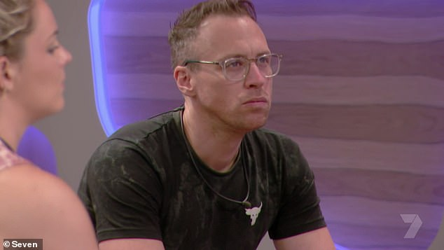 Bye, bye!Christopher Wayne (pictured) was evicted by his fellow housemates in a shocking elimination during Monday night's episode of Big Brother