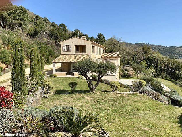 Ms Phillips and her partner began renting this property in the south of France (pictured) in 2012 with an option to buy it at the end of the first year, according to its owner Simon Sladen