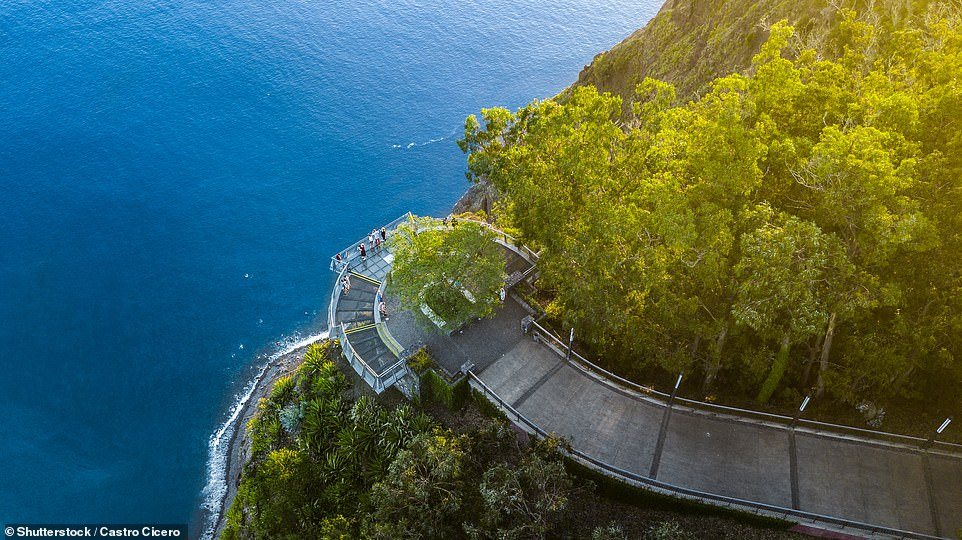 Would you be brave enough to venture on to the glass skywalk, pictured, that extends across the cliffs at Cabo Girao?