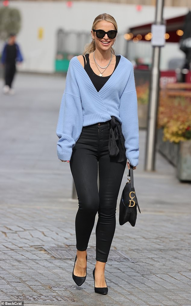 Chic:Vogue Williams looked incredible as she stepped out in London after presenting on Heart Radio on Monday