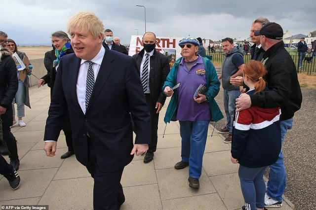 Speaking to reporters, Mr Johnson pointed out that the seat had voted 'overwhelmingly' for Brexit - insisting that the UK's stunning vaccine rollout had only been possible because he completed the split from Brussels
