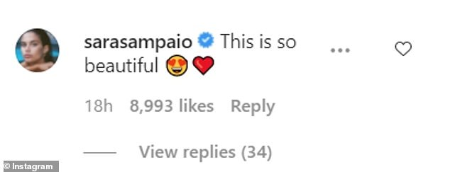 'Do whatever you want, queen!' The celebs joined supermodel Sara Sampaio,Editor-In-Chief Edward Enniful and plus-size icon Tess Holiday in the musician's comments