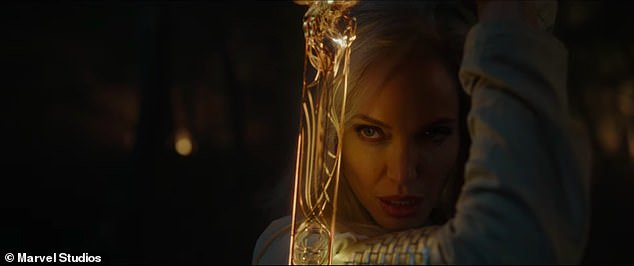 New look:The Eternals will be out November 5, 2021 and Angelina Jolie was seen for the first time in the film