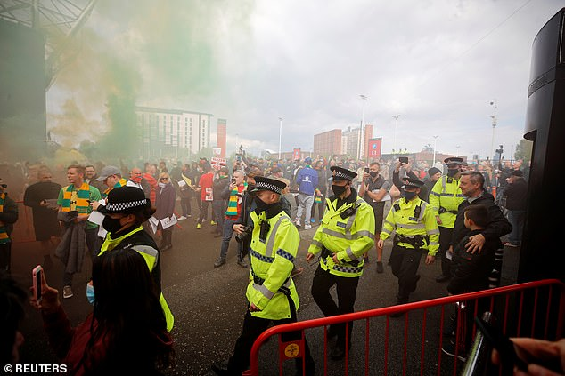 Manchester United will review security at Old Trafford after hundreds of protesting fans were able to get inside the stadium and onto the pitch on Sunday