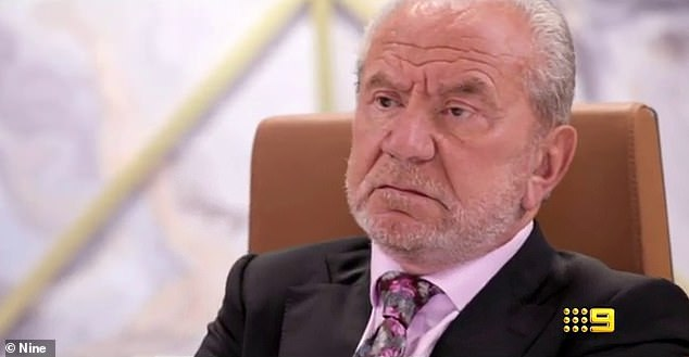 Oops! He isshown saying to her: 'They call you the Kmart Kardashian'. Pictured: Alan Sugar