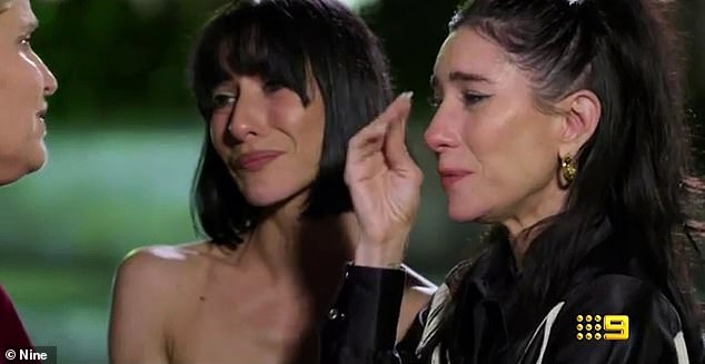 Tears:'This has nothing to do with you!' one of the pair screams as the other weeps in tense scenes