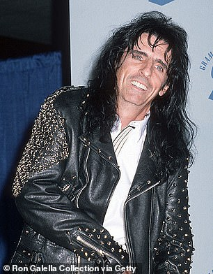 Image inspiration: The TV personality displayed her dry wit as she joked that rockers Alice cooper, 73 (pictured), and Gene Simmons, 71, are her image inspirations