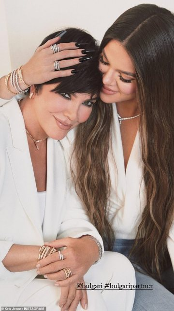 Khloe Kardashian and Kris Jenner twin in new campaign