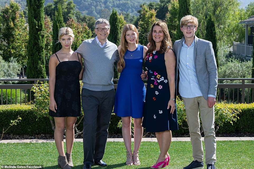 Bill, 64, and Melinda, 56, met in 1987 - the same year he became the world's youngest billionaire at the age of 31 - married in Hawaii in 1994, and have three children together: Jennifer, 25, Rory, 21, and Phoebe 18.