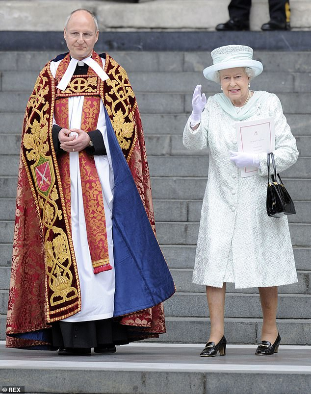 And the Dean at St Paul's, The Very Reverend David Ison (pictured left, with Queen Elizabeth II), has also expressed his immense gratitude to Mail readers