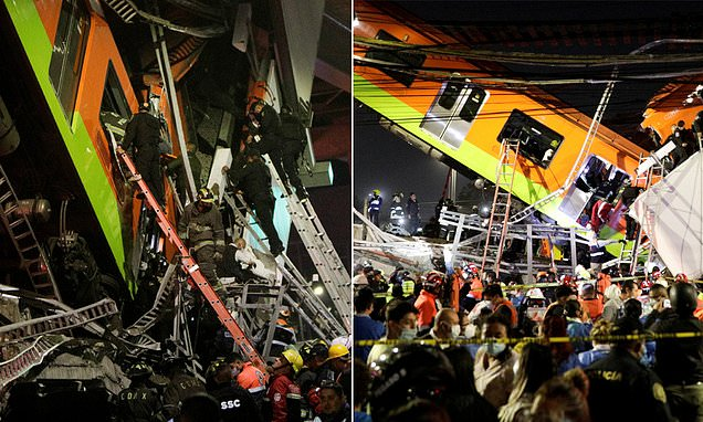 Mexico City rail overpass collapses onto roadway, killing at least 19   celex