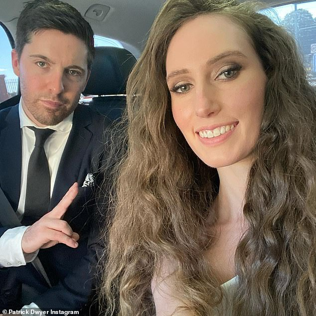Gorgeous: Married At First Sight's Patrick Dwyer shared a rarely seen photo with 'bride' Belinda Vickers (both pictured) to Instagram on Tuesday