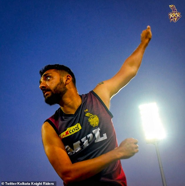 Kolkata Knight Riders bowler VarunChakravarthy is one of two of their players to have tested positive for Covid-19 - forcing the postponement of Monday's match