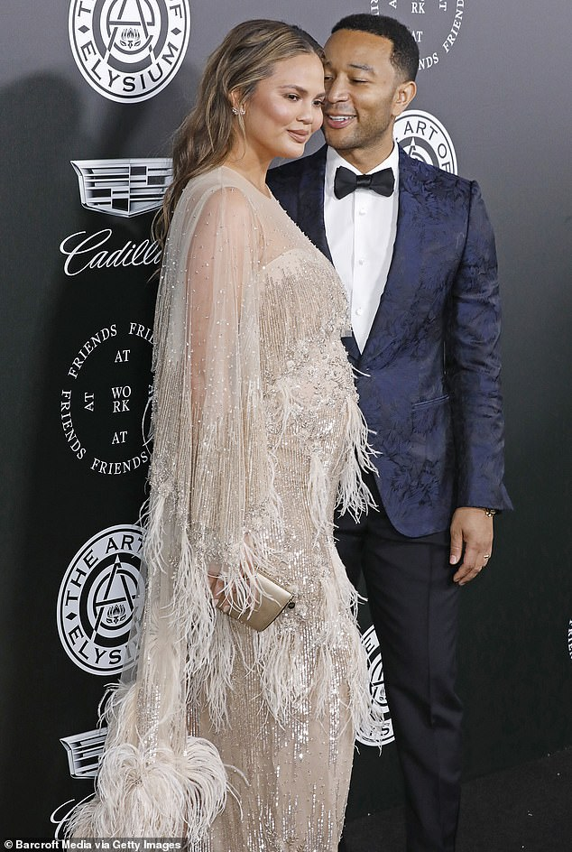 Working together:Chrissy and her husband John Legend first met in 2006 when they were introduced to each other by director Nabil Elderkin on the set of a music video