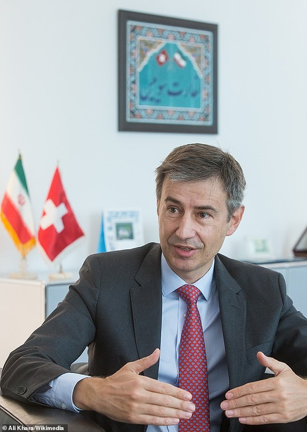 Swiss Ambassador Markus Leitner (pictured) serves as envoy to Iran and also represents US interests in the country as the White House has not had a representative in Tehran since the Islamic Revolution in 1979