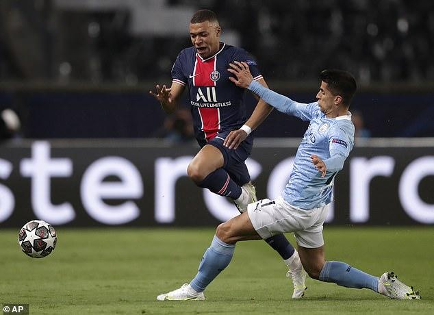L'Equipe believe City full back Joao Cancelo (right) is a defensive weak link