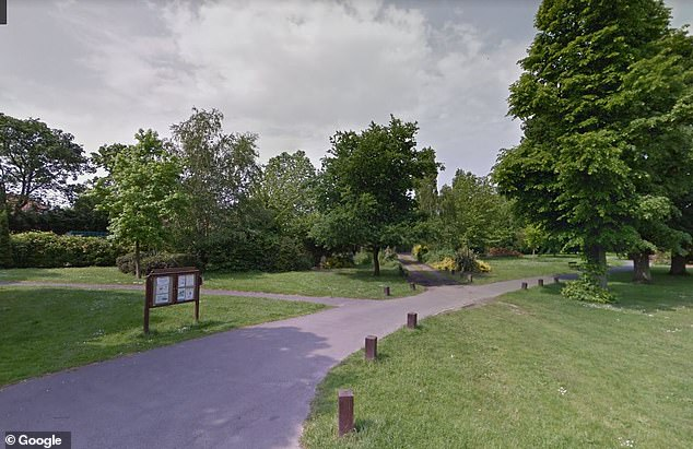 Sherise Blackman, the boy's mother, said her son was walking home from school in Beckenham, Bromley, when two men on the street and another man in a black van tried to grab him on Friday. Pictured: Croydon Road Recreation Ground where the boy found help