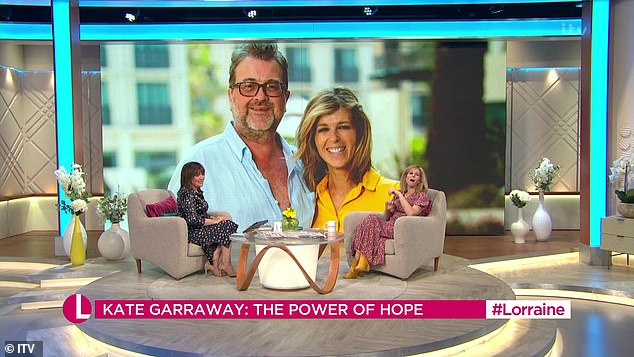Heartache: She recently appeared on Lorraine where she spoke about the 'hope' she has for her husband, whose battle with the disease has had life-changing consequences, and how he 'wants to pride ''