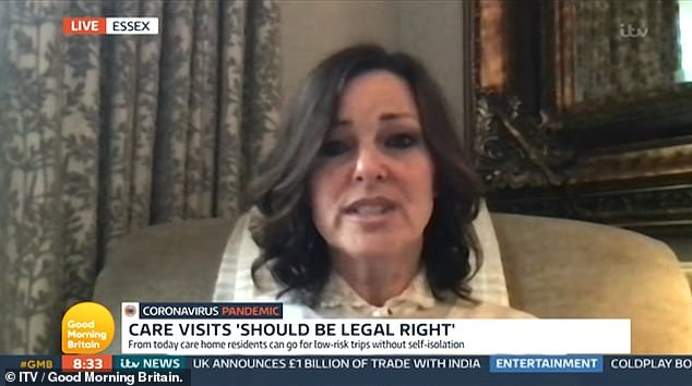 'What does she have left but touch?' Ruthie Henshall, 54, spoke on GMB on Tuesday about her mother's decline after living in a care home during lockdown - as she campaigns to make visits a 'legal right'
