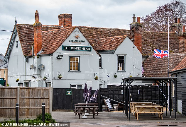 The King's Head pub has since confirmed the heater was 'brought onto the premises without their knowledge' before it exploded injuring three customers including Ashleigh Charlesworth