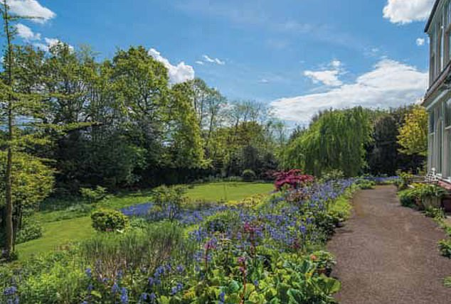 The move will no-doubt infuriate local conservationists in the upmarket area who want to save the trees in the garden (pictured)
