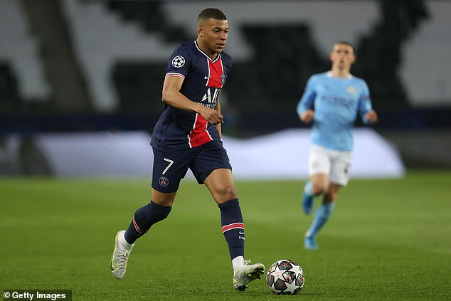Kylian Mbappe is facing a late fitness test after missing PSG's clash with Lens on Saturday
