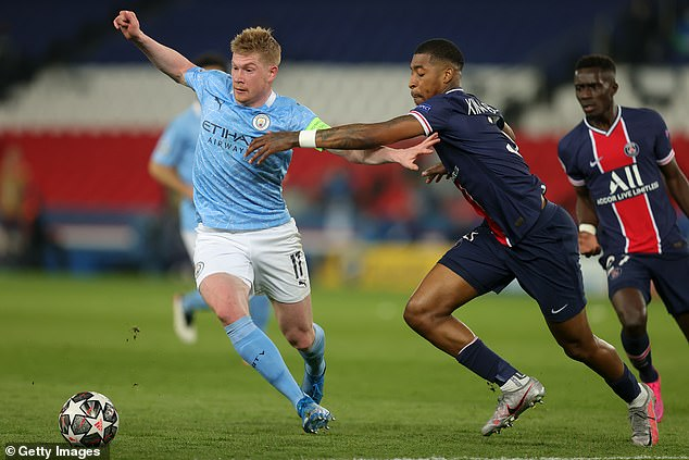 Kevin De Bruyne is one of a number of City stars expected to return to the starting XI