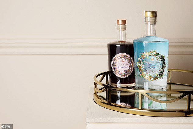 Made with hand-picked whole sloe berries steeped in Buckingham Palace Gin, the Buckingham Palace Sloe Gin costs £30 for a 50cl bottle (pictured)