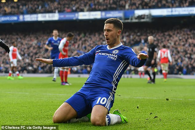 Hazard enjoyed a trophy-laden seven-year stint at Stamford Bridge, making 352 appearances