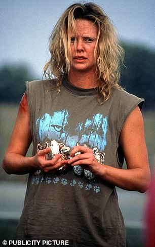Charlize Theron won an Oscar for 2003 film Monster, directed by Patti Jenkins, in which she played real-life serial killer Aileen Wuronos (right on screen). The role required Theron, then in her 20s, to gain some 30lbs