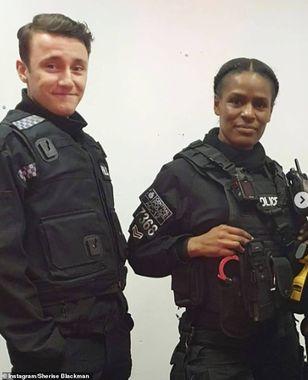 Sherise Blackman (pictured), who acted as cop Ruby Jones in Sunday's Line of Duty finale, said her son was walking home from school in Beckenham, Bromley, when two men on the street and another man in a black car tried to grab him on Friday