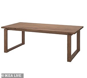 Meanwhile customers could receive up £249 for the Morbylanga table (pictured)